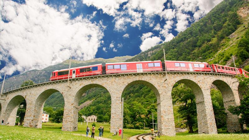 Bernina express - Från glaciär till palmer