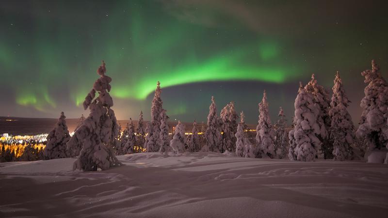 Vinterresa till finska Lappland