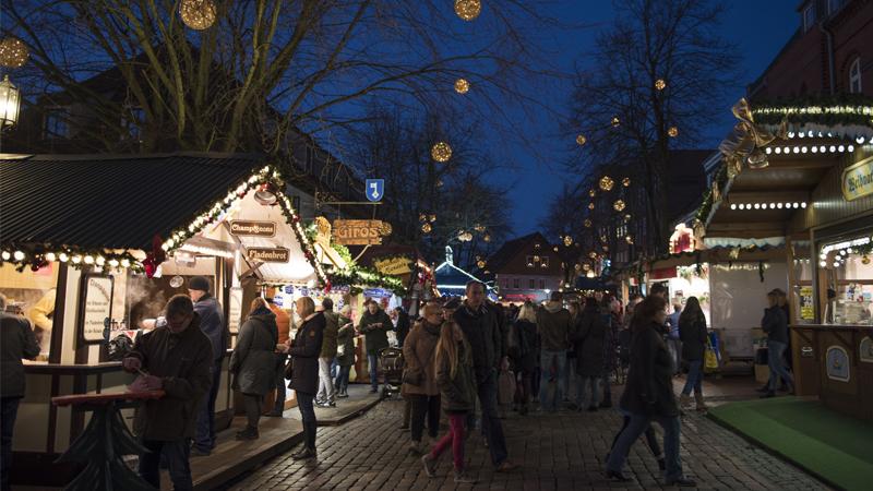 Julmarknad i Stade och Hamburg