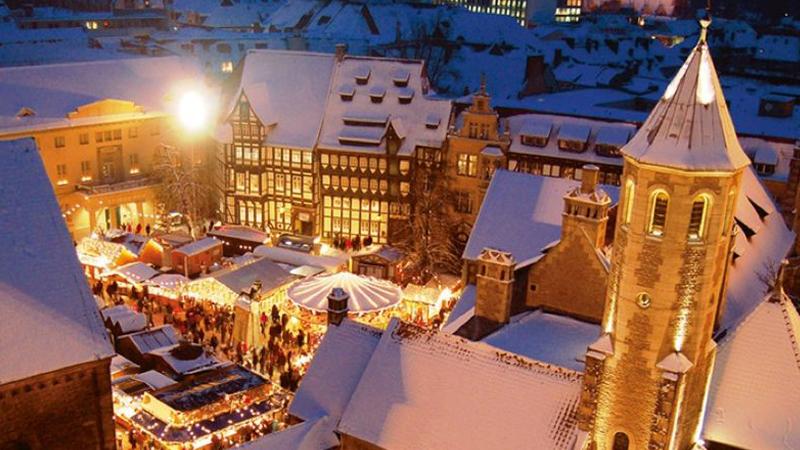 Julmarknad i Braunschweig med Wernigerode